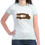 Food Truck: Side/Fork (Brown) Jr. Ringer T-Shirt