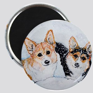 Corgi Snow Dogs Magnet
