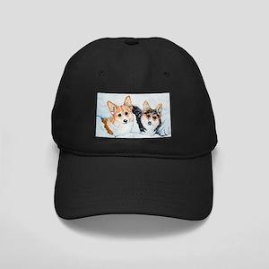 Corgi Snow Dogs Black Cap