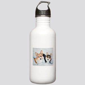 Corgi Snow Dogs Stainless Water Bottle 1.0L
