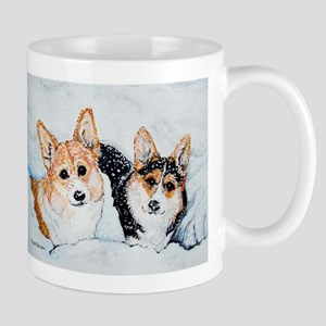 Corgi Snow Dogs Mug