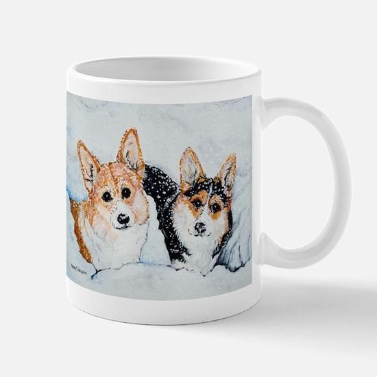 Corgi Snow Dogs Mug