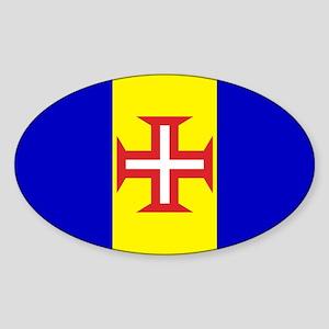 Madeira Flag Oval Sticker