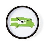 Food Truck: Side/Fork (Green) Wall Clock