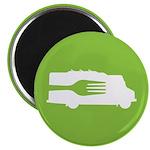 Food Truck: Side/Fork (Green) Magnet
