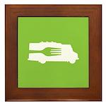 Food Truck: Side/Fork (Green) Framed Tile