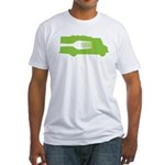 Food Truck: Side/Fork (Green) Fitted T-Shirt