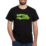 Food Truck: Side/Fork (Green) Dark T-Shirt