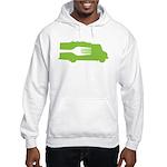 Food Truck: Side/Fork (Green) Hooded Sweatshirt