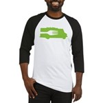 Food Truck: Side/Fork (Green) Baseball Jersey