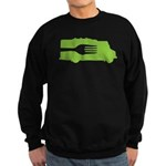 Food Truck: Side/Fork (Green) Sweatshirt (dark)