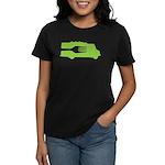 Food Truck: Side/Fork (Green) Women's Dark T-Shirt