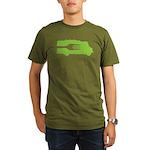 Food Truck: Side/Fork (Green) Organic Men's T-Shir