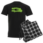 Food Truck: Side/Fork (Green) Men's Dark Pajamas