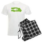 Food Truck: Side/Fork (Green) Men's Light Pajamas
