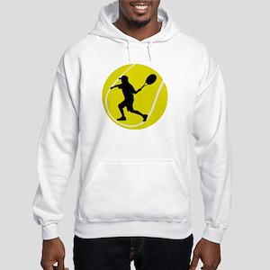 Silhouette Tennis Player Gift Hooded Sweatshirt