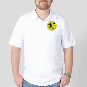 Silhouette Tennis Player Gift Golf Shirt