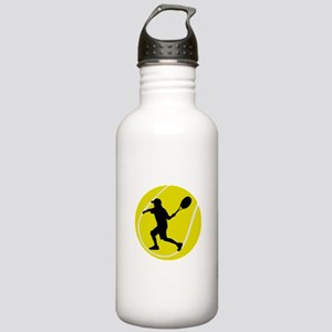 Silhouette Tennis Player Gift Stainless Water Bott