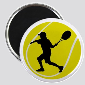 Silhouette Tennis Player Gift Magnet