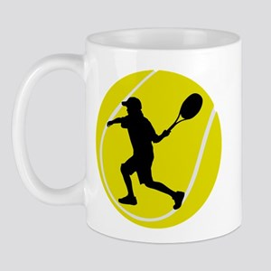 Silhouette Tennis Player Gift Mug