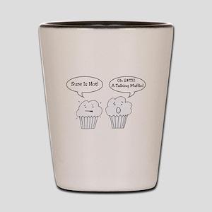 Talking Muffin Shot Glass