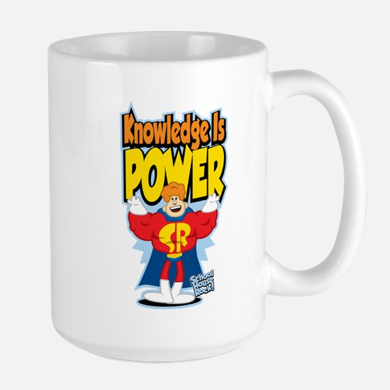 Knowledge Is Power Large Mug