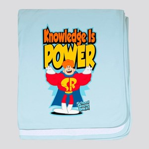 Knowledge Is Power baby blanket