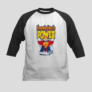 Knowledge Is Power Kids Baseball Jersey