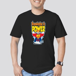 Knowledge Is Power Men's Fitted T-Shirt (dark)