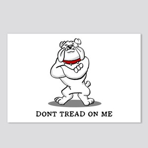Bulldog Don't Tread on Me Postcards (Package of 8)
