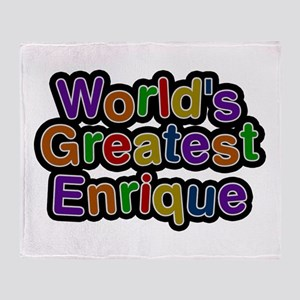World's Greatest Enrique Throw Blanket