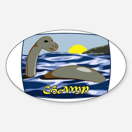 Champ Sticker (Oval)