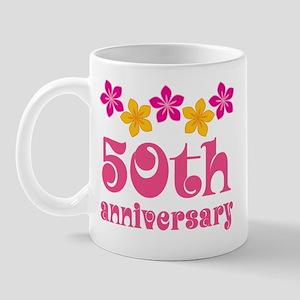 50th Anniversary Tropical Gift Mug