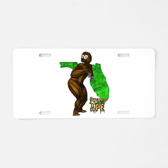 Swamp Ape Aluminum License Plate