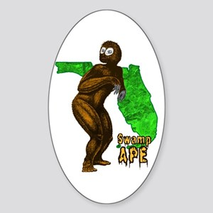Swamp Ape Sticker (Oval)