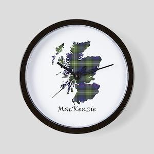 Map-MacKenzie htg grn Wall Clock