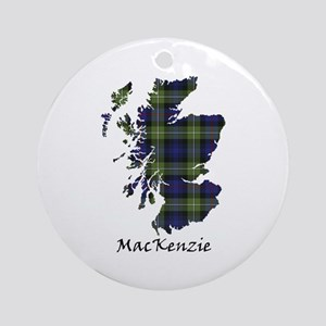 Map-MacKenzie htg grn Round Ornament