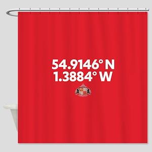Sunderland Stadium Coordinates Full Shower Curtain