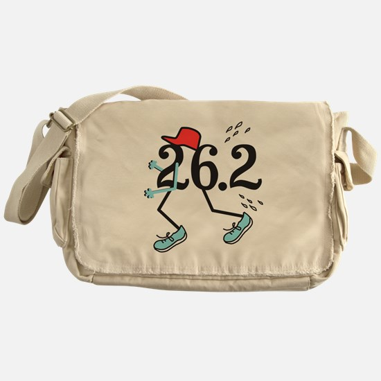 Funny Marathoner 26.2 Messenger Bag
