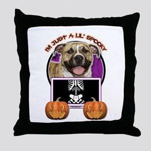 Just a Lil Spooky Pitbull Throw Pillow