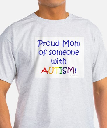 """Proud Mom"" Ash Grey T-Shirt"