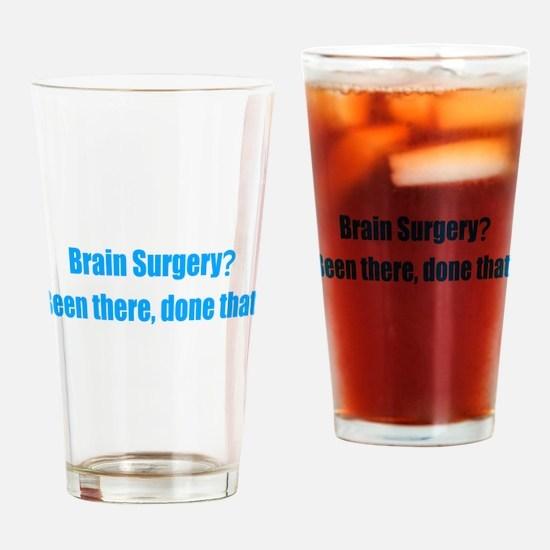 Funny Brain Surgery Drinking Glass