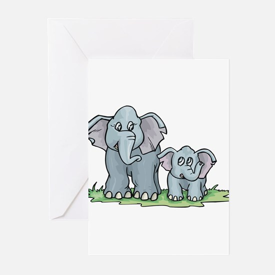 Elephant Duo Greeting Cards (Pk of 10)