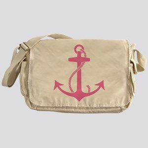 Pink Anchor Messenger Bag