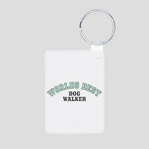 Worlds Best Dog Walker Aluminum Photo Keychain