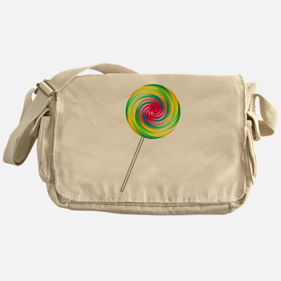 Swirly Lollipop Messenger Bag