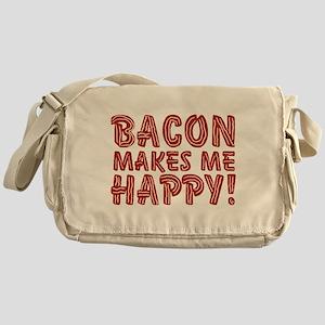 Bacon Makes Me Happy Messenger Bag