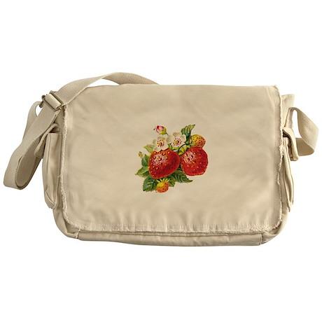 Retro Strawberry Messenger Bag
