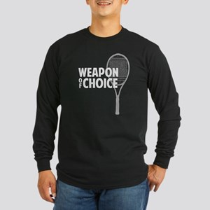 Tennis - Weapon Long Sleeve Dark T-Shirt