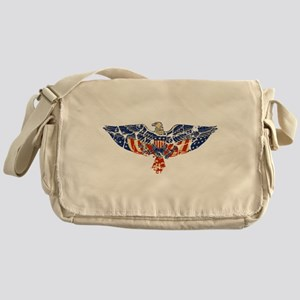 Retro Eagle and USA Flag Messenger Bag